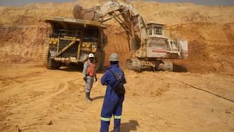 Arbeiter in der KOV-Kupfer- und Kobaltmine der Glencore-Tochter Katanga im Südosten der Demokratischen Republik Kongo.