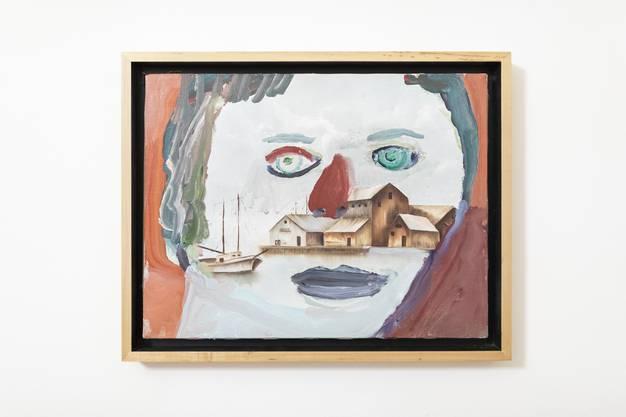 """Das Werk """"Bait"""", 2002, an der Vernissage zur Einzelausstellung von Margot Bergman, im Museum Langmatt Baden am 2. März 2019."""
