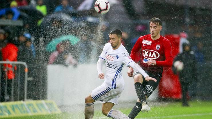 Im letzten Duell kommt der FC Aarau nicht über ein 2:2 gegen Lausanne hinaus.
