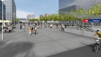 So stellte man sich den Bereich um die S-Bahn-Station Dietikon Silbern in einer Vision vor rund zehn Jahren vor. Doch wann wird sie endlich gebaut? Der Ball liegt jetzt beim Bundesrat.