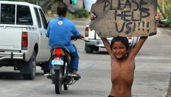 Verzweifelter Hilferuf eines Kindes auf der Philippinen-Insel Cebu