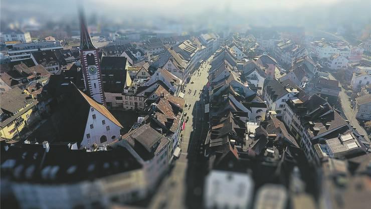Wer regiert künftig das Baselbiet? Blick vom Regierungsgebäude über Liestal.
