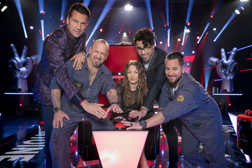 Das Juroren-Team von «The Voice Of Switzerland»