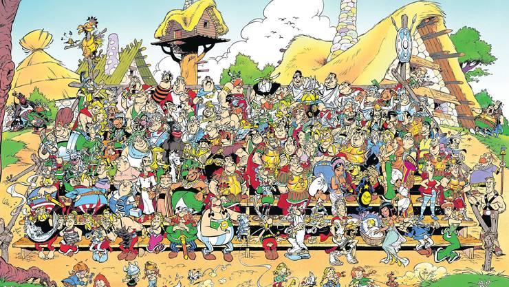 Das Familienfoto: Wer kennt die Namen, die Typen, die Figuren, wer nennt die Geschichten, in denen sie alle vorkommen? (Les Editions Albert René/ Goscinny-Uderzo)
