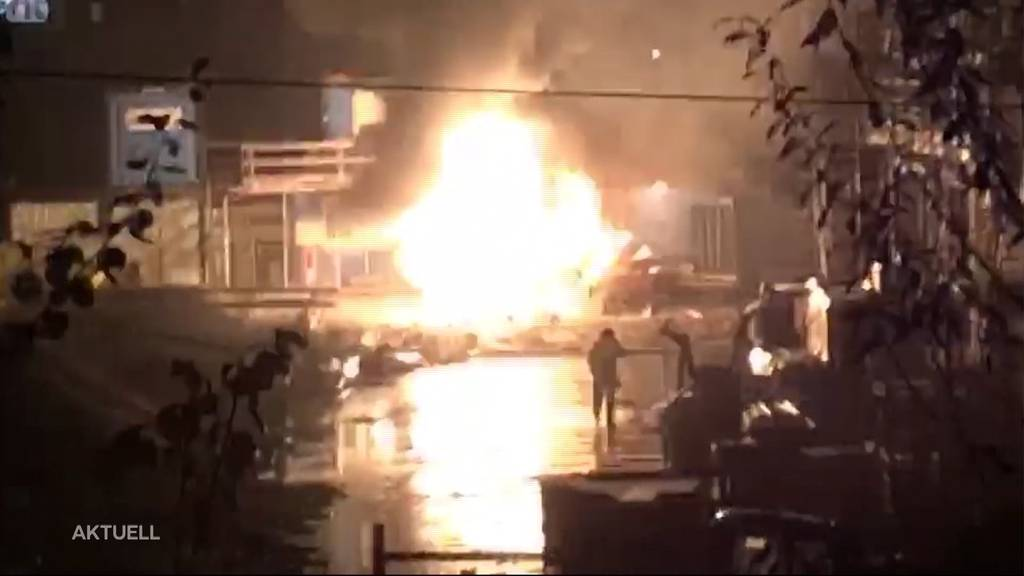Gasflaschen-Explosionen bei Shell-Tankstelle in Oftringen