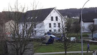 Einsatz eines Rettungshelikopters