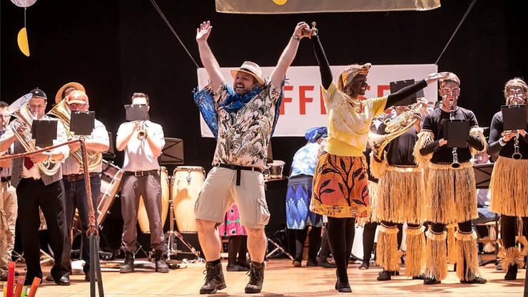 Die Musikgesellschaft Konkordia Balsthal entführte das Publikum auf eine wilde Safari durch Afrika.
