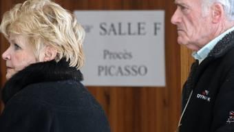 Das Ehepaar Le Guennec beim Betreten des Gerichts am Mittwoch