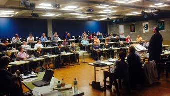 Der Obersiggenthaler Einwohnerrat an seiner Sitzung vom 16. Oktober 2014