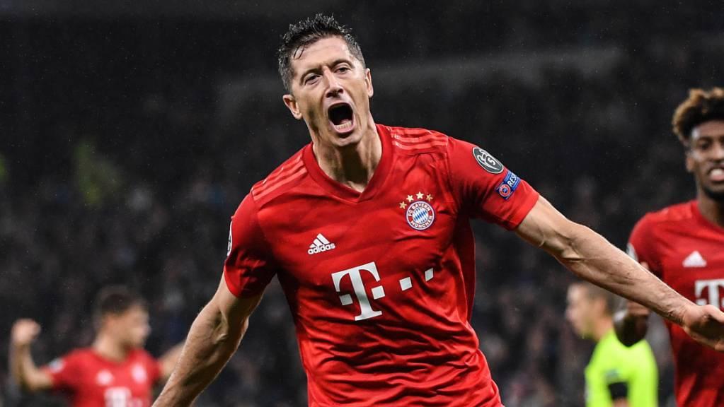 Der überragende Fussballer und Sportler des Jahres 2020: Bayern Münchens Goalgetter Robert Lewandowski