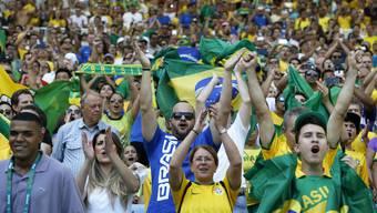 Sorgen für hohe Dezibelzahlen: Die brasilianischen Fans in Rio.