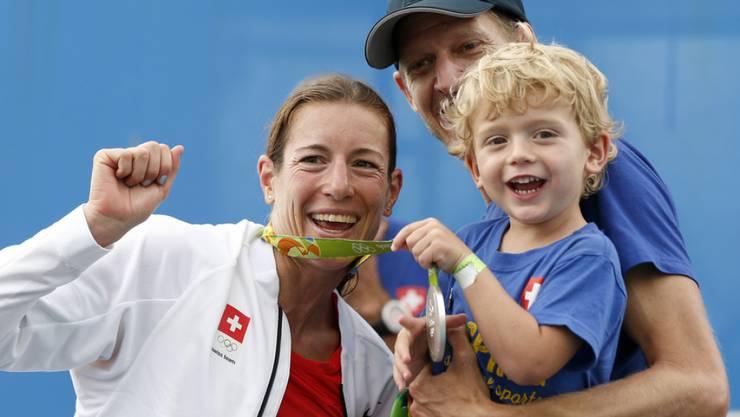 Sie hat Erfahrung mit Sport während der Schwangerschaft: Nicola Spirig. (Archivbild)