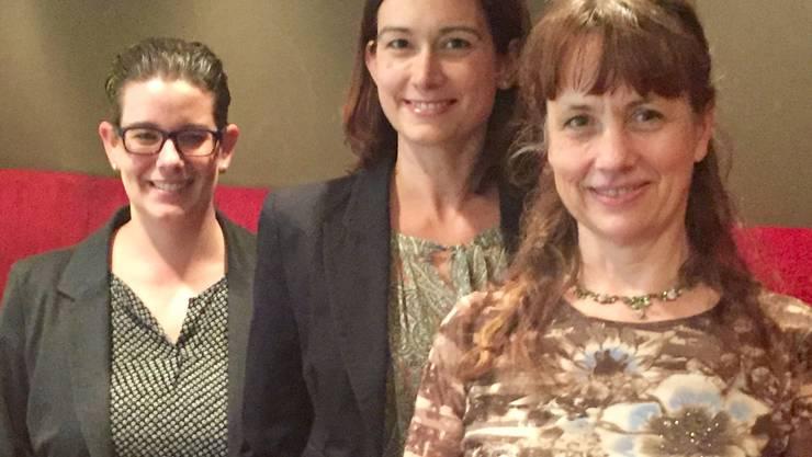 Die Grossrätinnen (von links) Jeanine Glarner, Maja Riniker und Martina Sigg.
