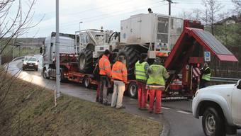 «MIsion Bözberg» abgeschlossen: Die Vibrationsfahrzeuge ziehen weiter in den Kanton Schaffhausen.