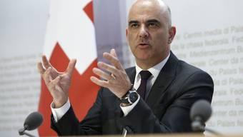 Informiert am Donerstagnachmittag zur aktuellen Corona-Situation: Bundesrat Alain Berset.