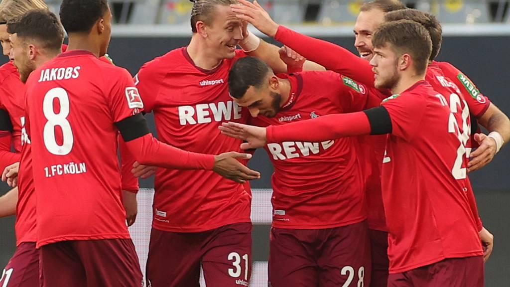 Ellyes Skhiri (28) schoss Köln mit zwei Toren zum ersten Sieg seit Februar