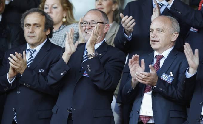 Sportminister Ueli Maurer reiste für den Final nach Dänemark