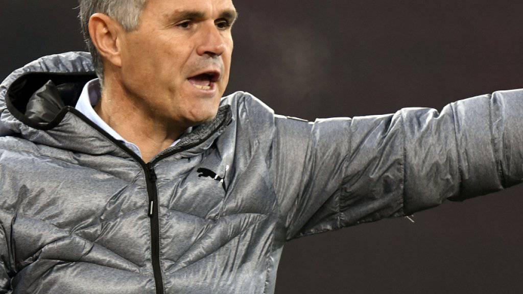 Auch GC-Trainer Pierluigi Tami soll durch die Zusammenarbeit der Grasshoppers mit Schaffhausen profitieren