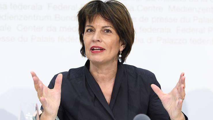 Verkehrsministerin Doris Leuthard ist im UNO-Beratergremium für digitaler Kooperation