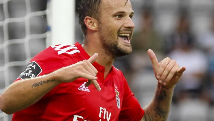 Endlich mal wieder jubeln: Haris Seferovic trifft für Benfica Lissabon