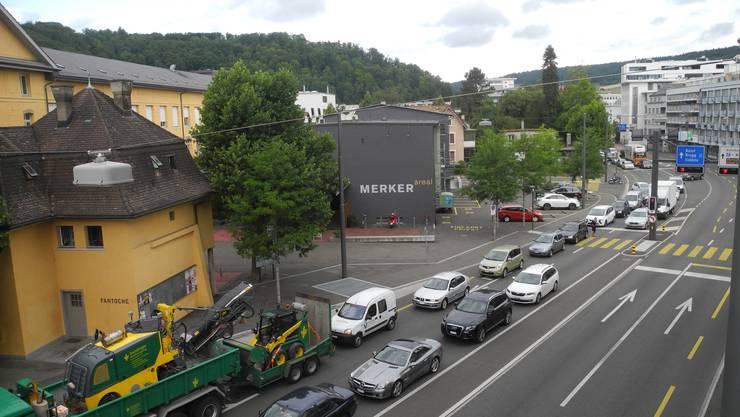 Wer von Richtung Brugg her nach Baden fuhr, brauchte am Mittwoch mehr Geduld als üblich