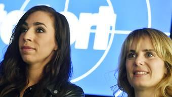 """Anna Pieri (rechts) und Carol Schuler (links) werden 2020 im Schweizer """"Tatort"""" aus Spargründen nur ein- statt zweimal auf Verbrecherjagd gehen können. (Archivbild)"""