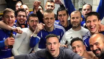 Sieger-Selfie: So feierte NK Pajde den Einzug in den Schweizer Cup. zvg