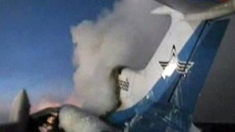 TV-Bild der explodierenden Maschine