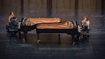 Sergei Babayan (links) und Martha Argerich begeisterten im fast voll besetzten Musical-Theater Basel.