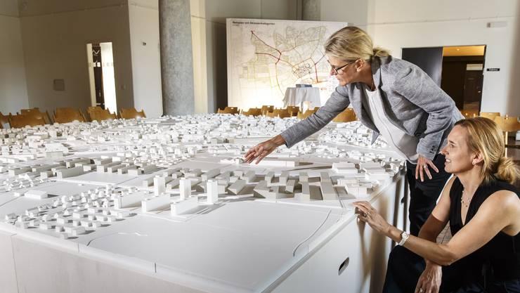 Modell zur Ortsplanungsrevision in der Säulenhalle.