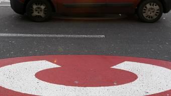 Signalisierte kostenpflichtige Durchfahrt im Zentrum Londons