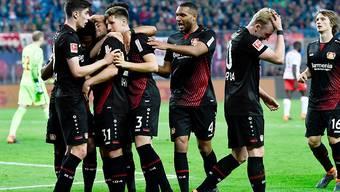 Leverkusen rückte dank dem 4:1-Sieg in Leipzig auf Rang 4 vor