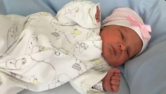 Das Solothurner Neujahrsbaby Aleya Ramadani kam im Kantonsspital Olten zur Welt.