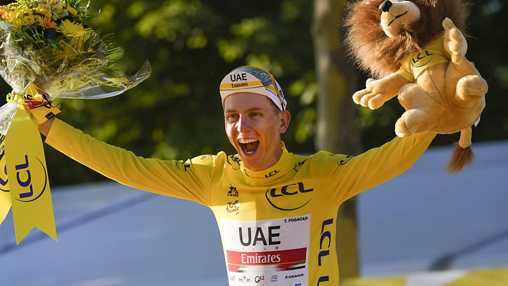 Tadej Pogacar - der Gewinner der 108. Tour de France