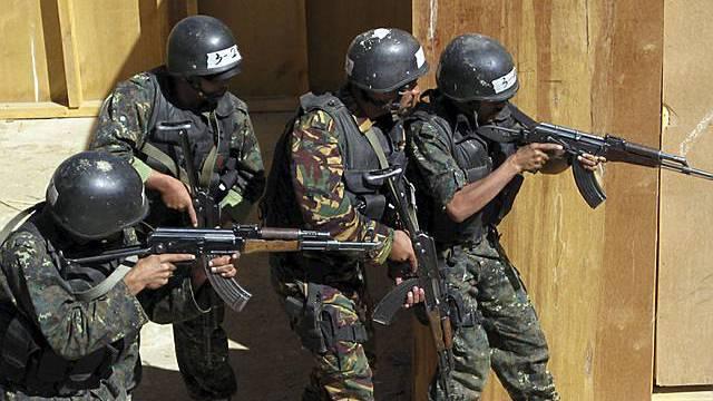 Jemenitische Soldaten üben Anti-Terror-Einsatz (Archiv)