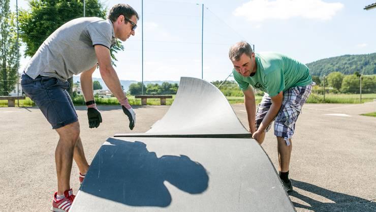 Vom 17. Juni bis zum 10. Juli steht beim Schulhaus Büel in Unterengstringen eine mobile Pumptrack-Anlage.
