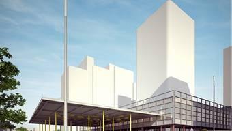Visualisierung der Bauherrschaft: So könnte der 80-Meter-Turm aussehen