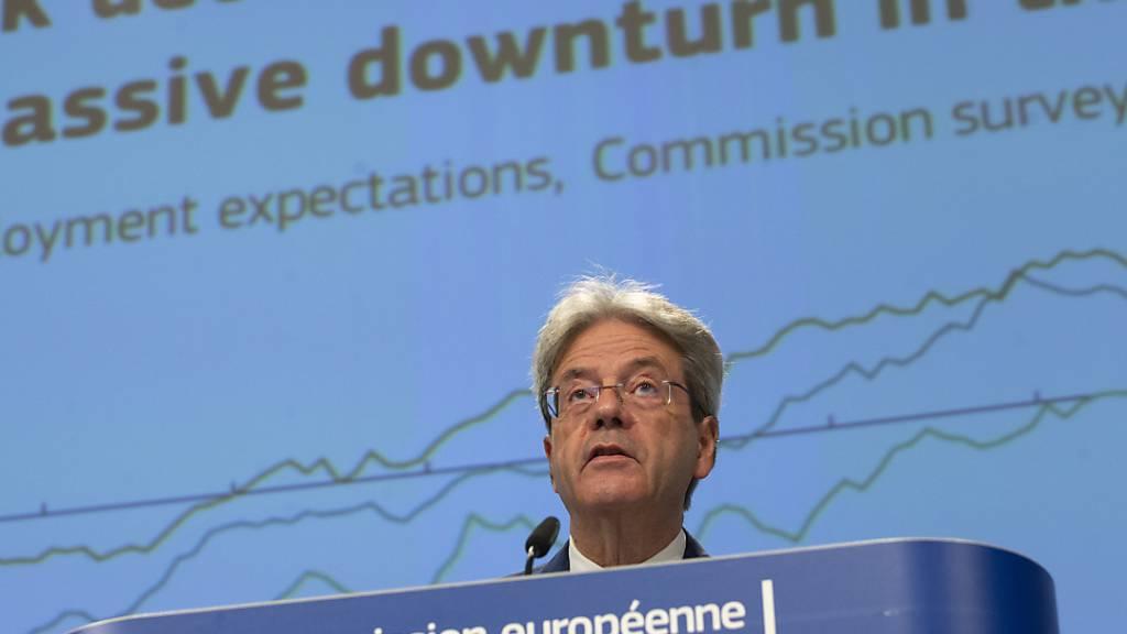 Der EU-Währungskommissar Paolo Gentiloni macht sich um die unterschiedliche Wirtschaftsentwicklung in den einzelnen Euro-Staaten grosse Sorgen. (Archivbild)