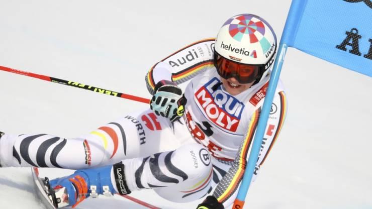 Viktoria Rebensburg musste sich letztlich mit Silber begnügen. Sie büsste ihren Vorsprung im Zielhang ein.