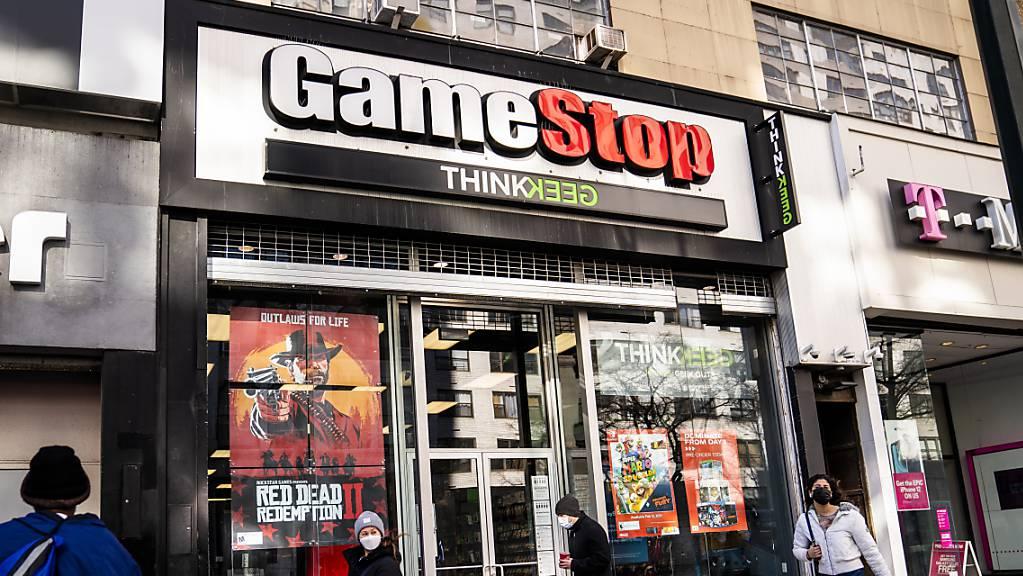 Die Aktien von GameStop wurden in diesem Frühjahr wie wild auf der Plattform von Robinhood gehandelt. (Archivbild)