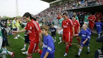 Das Spiel Liverpool gegen Werder Bremen am Uhrencup 2008 zog über 10'000 Fans ins Stadion Brühl.