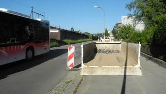 Die Umgestaltung der Güterstrasse hat begonnen.