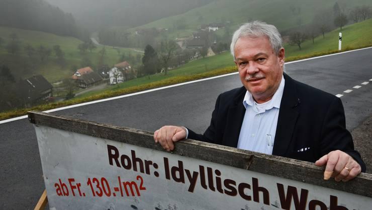 Noch nach seinem Rücktritt macht er Werbung für Rohr: Alt Gemeindepräsident Max Ernst.