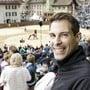 FDP-Ständeratskandidat Thierry Burkart (hier am Aargauer Kantonalschwingfest in Zofingen) hat einen Auftritt am Stadtfest Brugg.