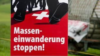 """Im Rahmen der SVP-Initiative """"Masseneinwanderung stoppen"""" wurde das """"Schlitzer""""-Inserat geschaltet (Archiv)"""