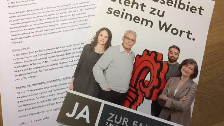 Das Komitee «Ja zur Fairness zwischen Kanton und Gemeinden» startet den Abstimmungskampf.