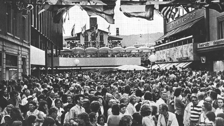 Der neue untere Bahnhofplatz war 1972 mit ein Grund zum Feiern.