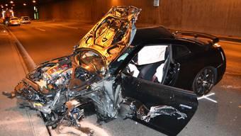 Schwerer Unfall im Schweizerhalle-Tunnel