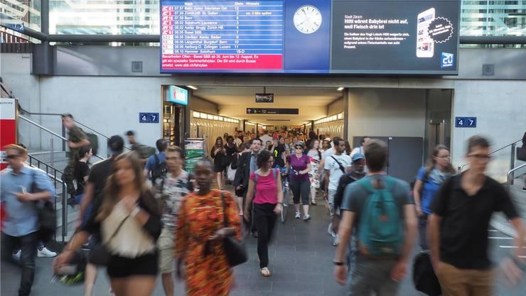 SBB melden Beeinträchtigungen des Zugverkehrs.