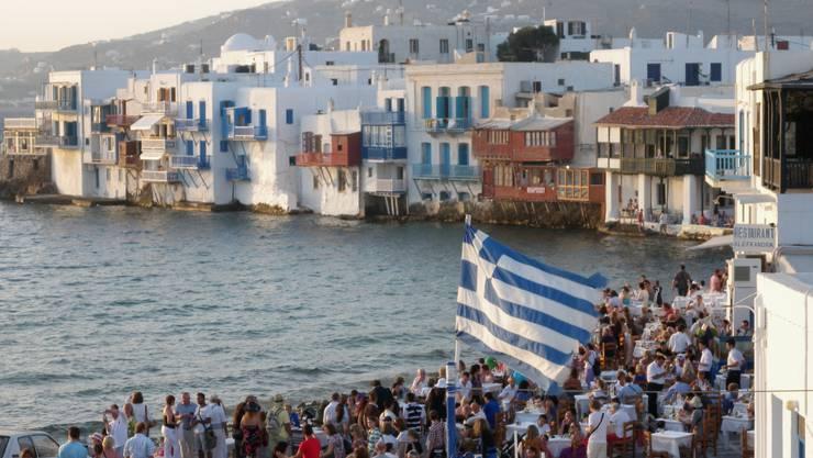 Griechenland erwartet viele Touristen in den Sommermonaten. Im Bild Mykonos Stadt auf der gleichnamigen Ferieninsel.
